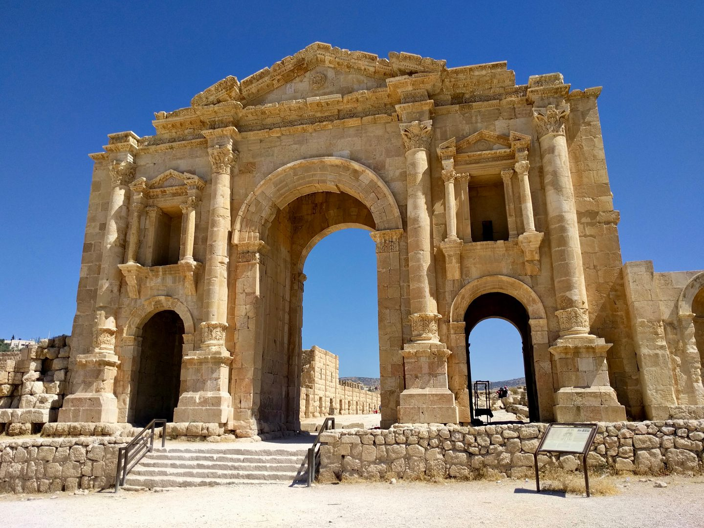 The Arch of Hadrian welcomes you to Jerash